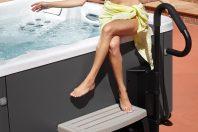 Barre d'accès au spa